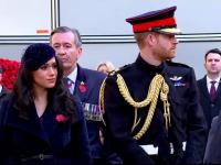 Prințul Harry și ducesa Megan, în centrul atenției la o comemorare a militarilor