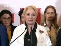 """Prima reacție a Vioricăi Dăncilă după Exit Poll: """"Acest vot ne onorează, dar ne şi responsabilizează"""""""