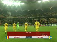 România ratează calificarea directă la EURO. Tricolorii au pierdut 0-2 contra Suediei