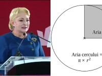Cum se calculează aria cercului? Românii au asaltat Google după întrebarea primită de Dăncilă