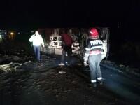 Accident grav în județul Galați, după ce o căruță a fost lovită de o autoutilitară