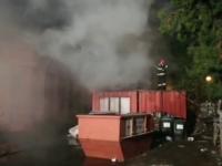 Incendiu la Spitalul CFR din Galați. Pompierii încearcă să afle de unde a pornit
