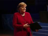 Cancelarul german Angela Merkel, la un pas să cadă pe scenă