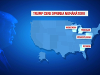 Alegeri SUA 2020. Donald Trump contestă rezultatele din cinci state și cere oprirea numărării voturilor