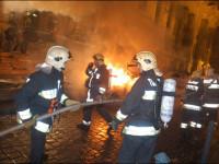 Incendiu intr-un bloc din Sibiu! Trei oameni, intoxicati cu fum!