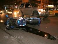 Costumul de protectie si casca i-au salvat viata unui motociclist!