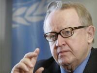 Premiul Nobel pentru Pace acordat finlandezului Ahtisaari