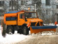 Sofatul, misiune imposibila pe zapada in Bucuresti