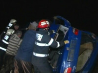 Accident teribil, cu masini rasturnate in Bucuresti. Nicio victima