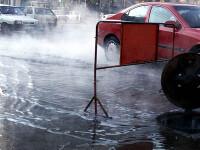Circulatie oprita pe DN1 din cauza unei avarii la o teava de apa