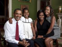 Familia Obama, la primul album foto publicat pe internet! GALERIE FOTO