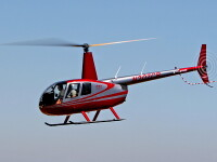 Un elicopter a luat foc in Delta Dunarii, in urma impactului cu solul