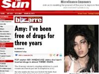 """Amy Winehouse: """"Am renuntat la droguri de trei ani!"""" N-ai zice..."""