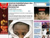 Daily Mail: Un sportiv american moare dupa ce a fost batut cu salbaticie intr-un bar din Romania