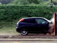 VIDEO. Cel mai rapid test de impact facut vreodata. Ce se intampla cand te tamponezi la 200 km/ora