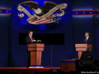 Sondaj CNN: Romney l-a INVINS pe Obama in prima dezbatere prezidentiala