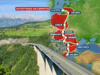 Via Carpatia, autostrada care ar urma sa uneasca trei mari si pentru care Romania nu are bani