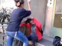 Scene socante la Braila. O fata este batuta si umilita de o alta tanara, din cauza unui baiat