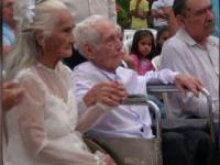O nunta de Cartea Recordurilor. Mirele are 103 ani, iar mireasa doar 99 de ani