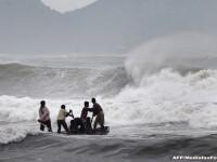 Atacul ciclonului Hudhud. Trei oameni au murit, iar 370.000 de persoane au fost evacuate