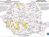 COD PORTOCALIU de inundatii in Timis si Caras-Severin. Harta zonelor afectate