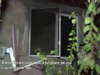 Clipe de groaza pentru o familie din Alba, dupa ce casa lor a luat foc: