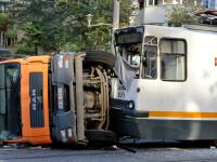 Accident in Capitala, dupa ce un tramvai a lovit o basculanta. Doua bulevarde au fost blocate pentru cateva ore