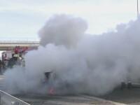 Zeci de echipaje SMURD si de politie, la simularea unui accident pe Autostrada Sibiu-Orastie. Reactia soferilor