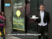 Toaleta publica de lux, deschisa intr-un cartier din Sao Paolo. Cum arata interiorul conceput de fiica lui Mick Jagger