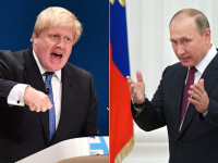 Scandal diplomatic intre Kremlin si Londra. Boris Johnson ii acuza pe rusi de crime de razboi, in replica e facut