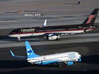 Imaginea zilei. Avioanele lui Donald Trump si Hillary Clinton s-au intalnit pe aeroportul din Las Vegas
