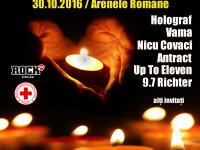 Concert rock caritabil la Arenele Romane din Bucuresti, pentru victimele din Colectiv: Holograf, Nicu Covaci, Vama si Antract