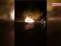 Tanar de 23 de ani, la un pas de moarte dupa ce a adormit la volan si a intrat cu masina intr-un copac. Cine l-a salvat