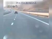 Șofer bulgar, prins de polițiști după ce a condus cu 215 km/h pe autostrada Nădlac - Deva