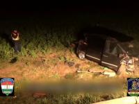 Un şofer român, care transporta ilegal migranți, a produs un accident în Ungaria