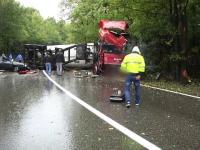 Accident mortal, după ce șoferul unui TIR a pierdut controlul volanului