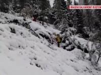 Zăpadă de aproape un metru în unele zone montane