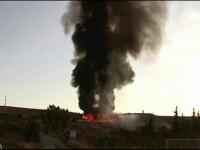 Depozit de reciclare din Spania, cuprins de flăcări pe o suprafață de 5000 de metri pătrați