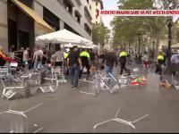 Incidente la Barcelona de Ziua Națională a Spaniei. Militanţi pro şi anti independenţă s-au luat la bătaie