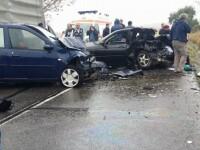 Un mort și un rănit în Iași după ce BMW-ul condus de o șoferită a lovit violent un Logan