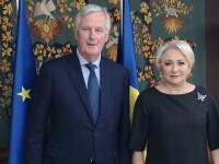 Negociatorul-şef al UE pentru Brexit, discuții cu Viorica Dăncilă la Guvern. Subiectele dezbătute