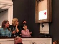 Un tablou Bansky faimos s-a autodistrus imediat după ce a fost cumpărat