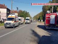 Accident într-o stație de autobuz din Bihor. Șoferul se întorcea de la o nuntă