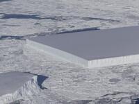 Misterul aisbergului care pare taiat intentionat in forma de dreptunghi, lamurit de NASA