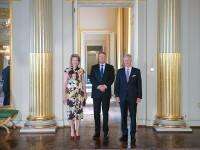Klaus Iohannis a fost primit la Palatul Regal din Bruxelles de regele Philippe