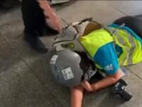 Jurnalistă împușcată în zona ochilor în timpul protestelor din Hong Kong. Scena a fost filmată
