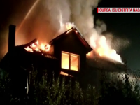 Incendiu violent în Bistrița-Năsăud. O casă a fost mistuită de flăcări