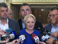 """Dăncilă, după întâlnirea cu Ciolacu, Stănescu și Oprișan: """"Suntem o echipă unită"""""""