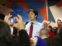 Apariție neobișnuită a lui Justin Trudeau la un miting. Cum a fost filmat premierul Canadei