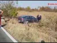 Filmul accidentului în care un șofer ar fi fost șicanat în trafic. A ajuns cu mașina pe câmp